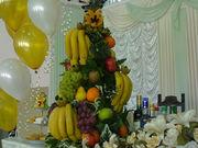 Оформление из овощей и фруктов