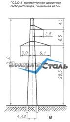 Металлические решетчатые опоры ЛЭП,  металлоконструкции...