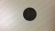 1 копейка медная 1873  российский монетный двор